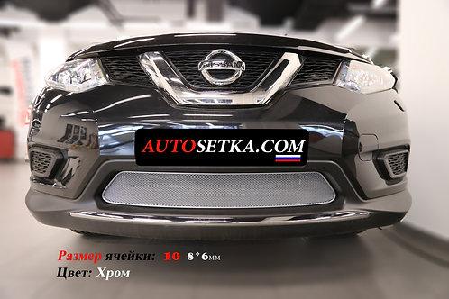 Premium защита радиатора Nissan X-Trail 2015 Хром