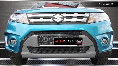 Premium защита радиатора Suzuki Vitara 2015Черн