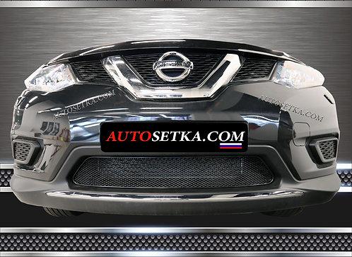 Premium защита радиатора Nissan X-Trail 2015 Черн