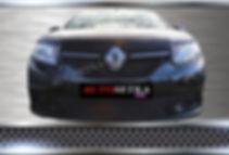 Premium защита радиатора. Renault Logan 2014