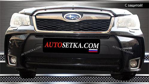 Premium защита радиатора Subaru Forester 2013 Хром