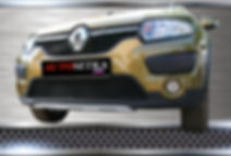 Premium защита радиатора.  Renault Sandero Stepway