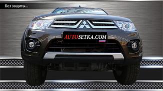 Защита радиатора Mitsubishi Pajero Sport (2014-)