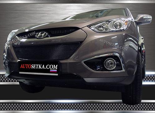 Premium защита радиатора Hyundai ix35 Черная