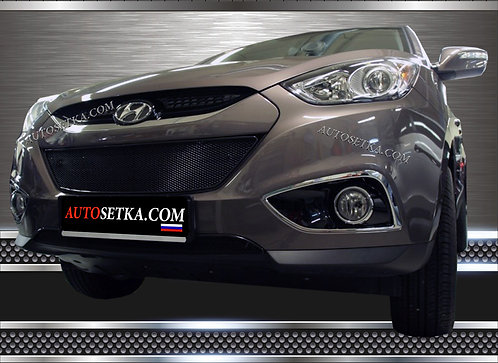 Premium защита радиатора Hyundai ix35 Хром