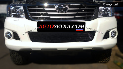Premium защита радиатора Toyota Hilux (2012-) Черн