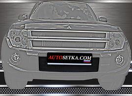 Premium защита изготовленная  для Mitsubishi  Pajero IV 2010- Комплект защиты радиатора.