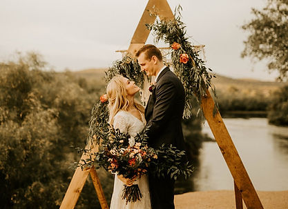 triangle wedding arch for rent