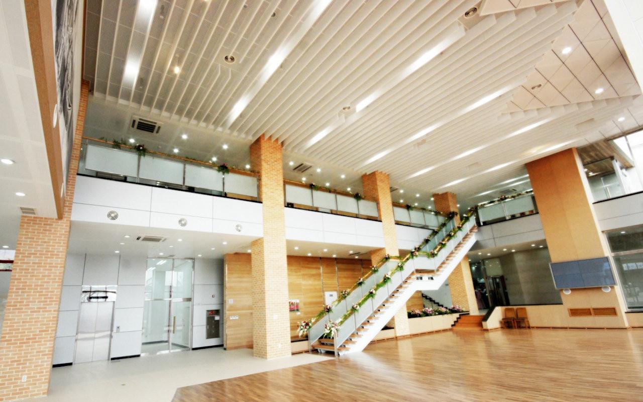 Linear Baffle Ceilings - Hwanglim Monest
