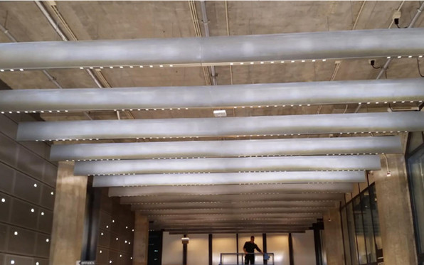 Polylam Baffle with Tangete Q Lights - L