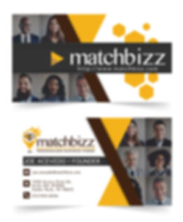 Corporate Branding, Graphic Design Case Studies, MatchBizz Business Cards
