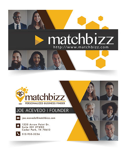 Corporate Branding, Graphic Design Case Studies, MatchBizz Business Cards