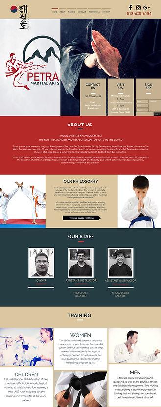 Petra Martial Arts New Website / Logo / Branding