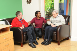 Resident and Staff interaction