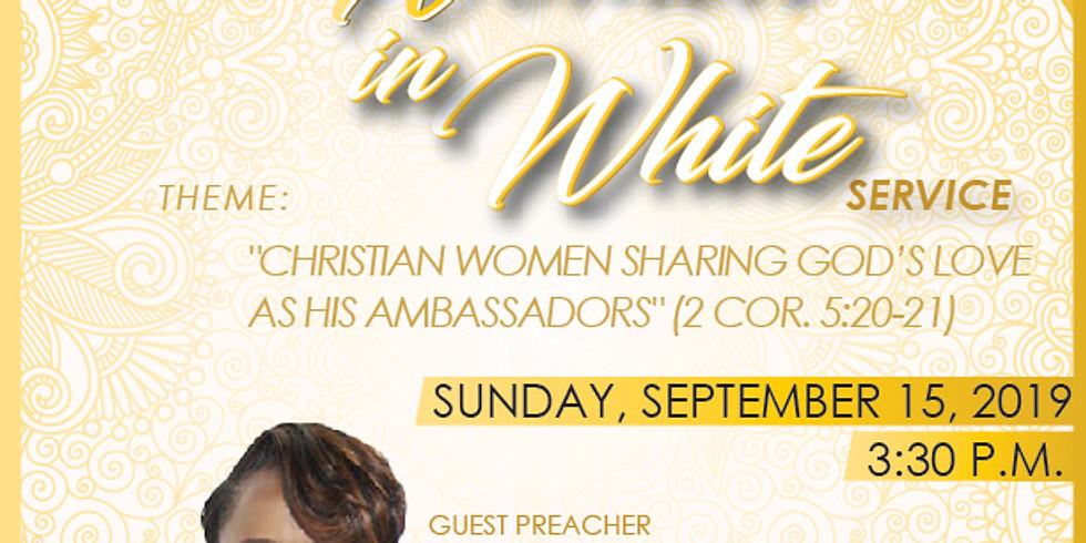 25th Annual Women In White Service