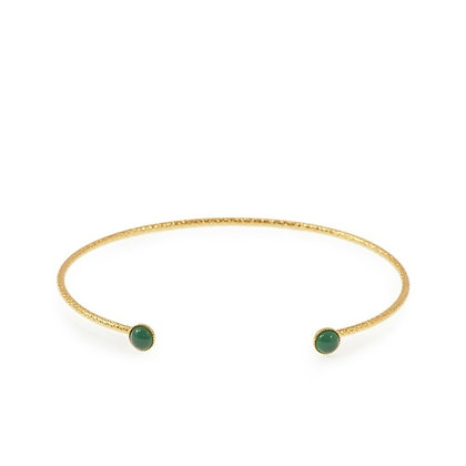 Diamantee Pastille Bracelet (Malachite)