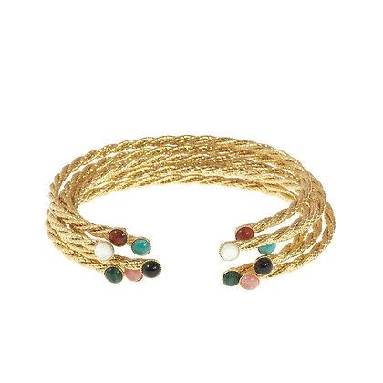 Pastille Corde Bracelet (Lapis)
