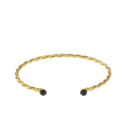 Pastille Corde Bracelet (Onyx)
