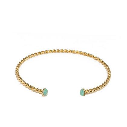 Torsade Puce Bracelet (Turquoise)