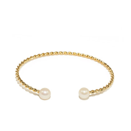 Torsade Pearl Bracelet
