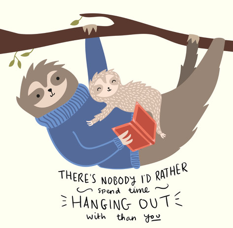 Moonpig Fathers Day Sloth