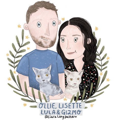Ollie, Lisette, Lula and Gizmo