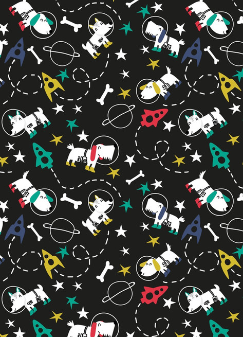 Space Dogs Print