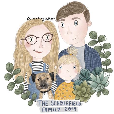 The Scholesield Family 2019