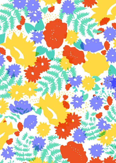 Screenprint Floral