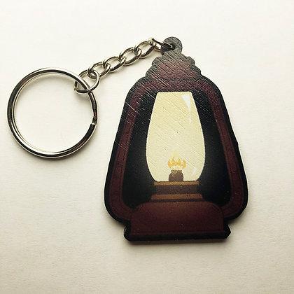 Wooden Lantern Keychain