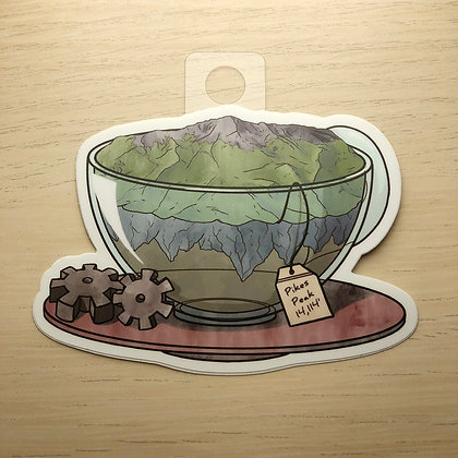 Pike's Peak in a Teacup Sticker