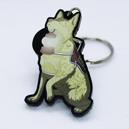 Blue Heeler: Nightmare Service Dog | Acrylic Charm | Acrylic Keychain | Keychain
