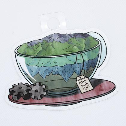 Pike's Peak in a Teacup Sticker