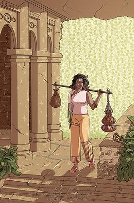 Bangles Lady Full Illustration Print
