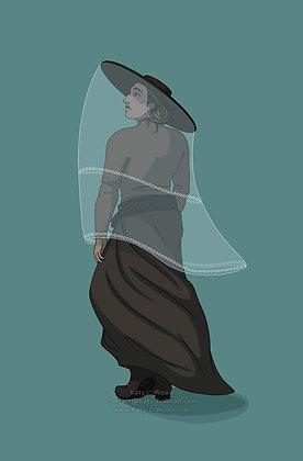 Veiled Lady Print
