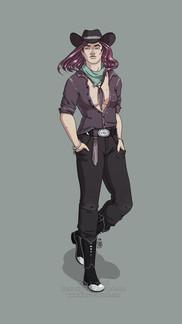 Purple Cowgirl
