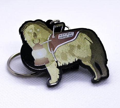 Aussie: Nightmare Service Dog | Acrylic Charm | Acrylic Keychain | Keychain