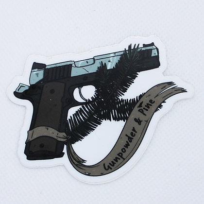 Gunpowder & Pine Logo Sticker
