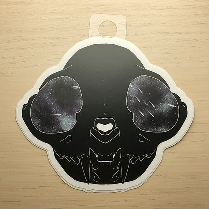 Space Cat Skull Sticker