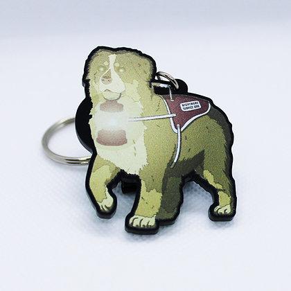 Bernese Mountain Dog: Nightmare Service Dog | Acrylic Charm | Acrylic Keychain