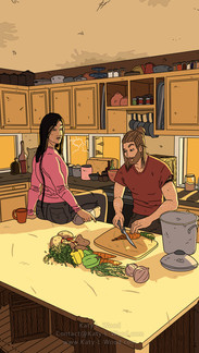 Dustin and Vivian Cooking