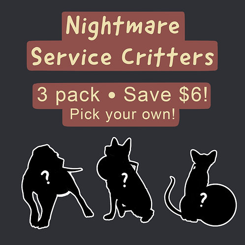 Nightmare Service Critter Acrylic Keychains 3 Pack | Save $6