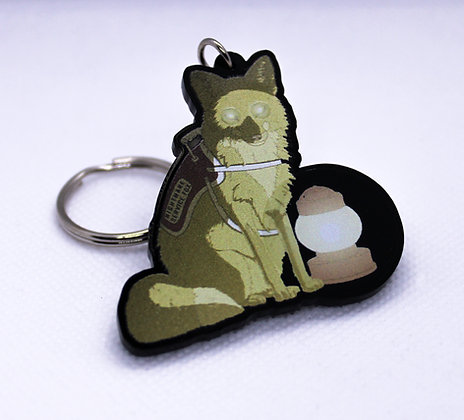 Fox: Nightmare Service Critter | Acrylic Charm | Acrylic Keychain | Keychain