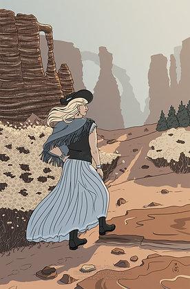 Desert Cowgirl Print | Original Art Print | 11x17inch Art Print