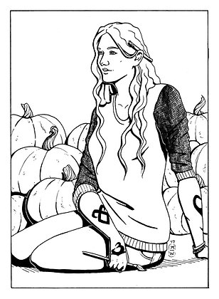 Clary Fray Inktober Original | Shadowhunters