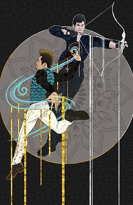 Magnus and Alec Art Deco Print