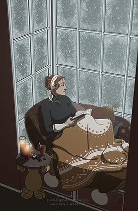 Snow Day Print | Original Art Print | 11x17inch Art Print