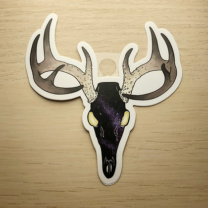 Space Deer Skull Sticker