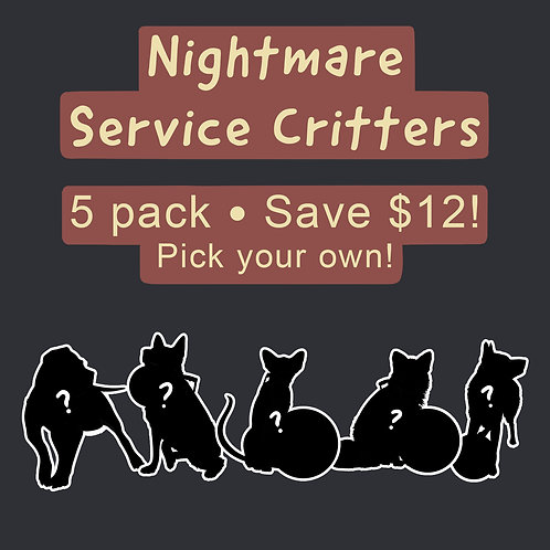 Nightmare Service Critter Acrylic Keychain 5 Pack | Save $12