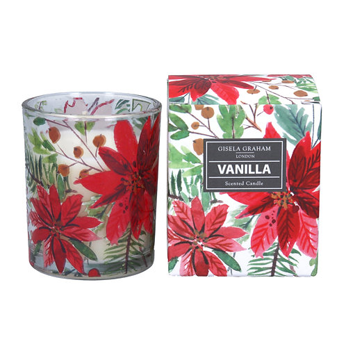 Poinsettia Boxed Candle small